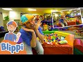 Blippi Visits A Fun Indoor Playground!   Learn Body Parts For Kids   Educational Videos for Toddlers