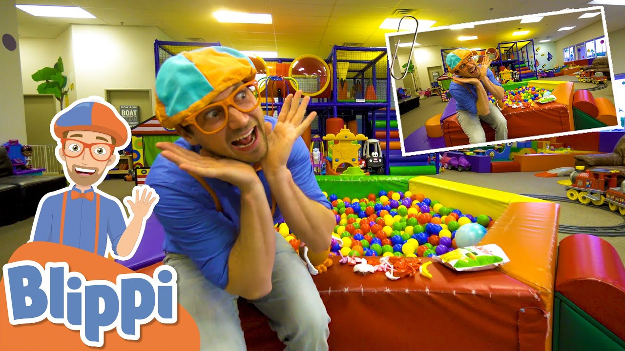 Blippi Visits A Fun Indoor Playground! | Learn Body Parts For Kids | Educational Videos for Toddlers