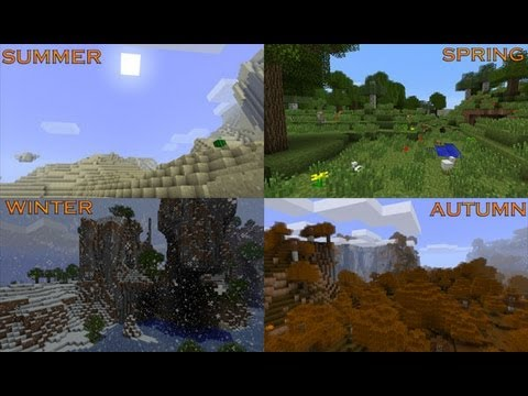 MineCraft 1.6 Snapshot 13w16a Seasons, Day Cycles!