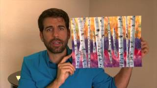 Paint this Aspen scene: Watercolor painting in 3 EASY steps