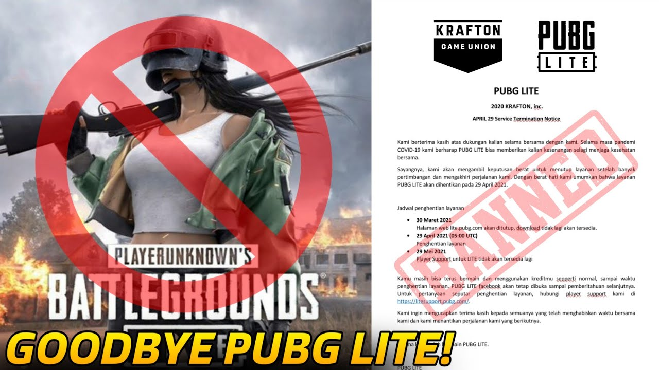 GOODBYE! PUBG LITE IS BANKRUPT AND SERVER SHUTDOWN PERMANENTLY :(