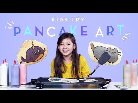 Kids Try Pancake Art | Kids Try | HiHo Kids