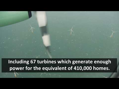Amazing aerial footage reveals scale of Dudgeon windfarm
