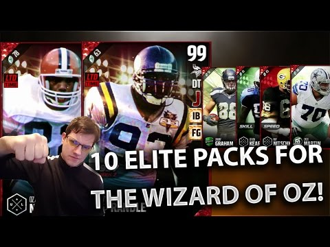 99 WIZARD OF OZ! OZZIE NEWSOME AND JOHN RANDLE! PULLING ELITE PACKS!- Madden Ultimate Team 17