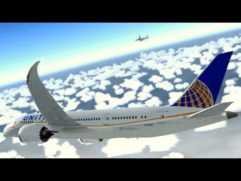 United Airlines & Japan Airlines Boeing 787 Los Angeles Landing [FSX HD]