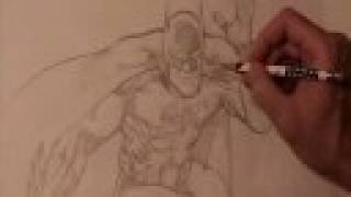 Artist (Vince Argondezzi) drawing Batman