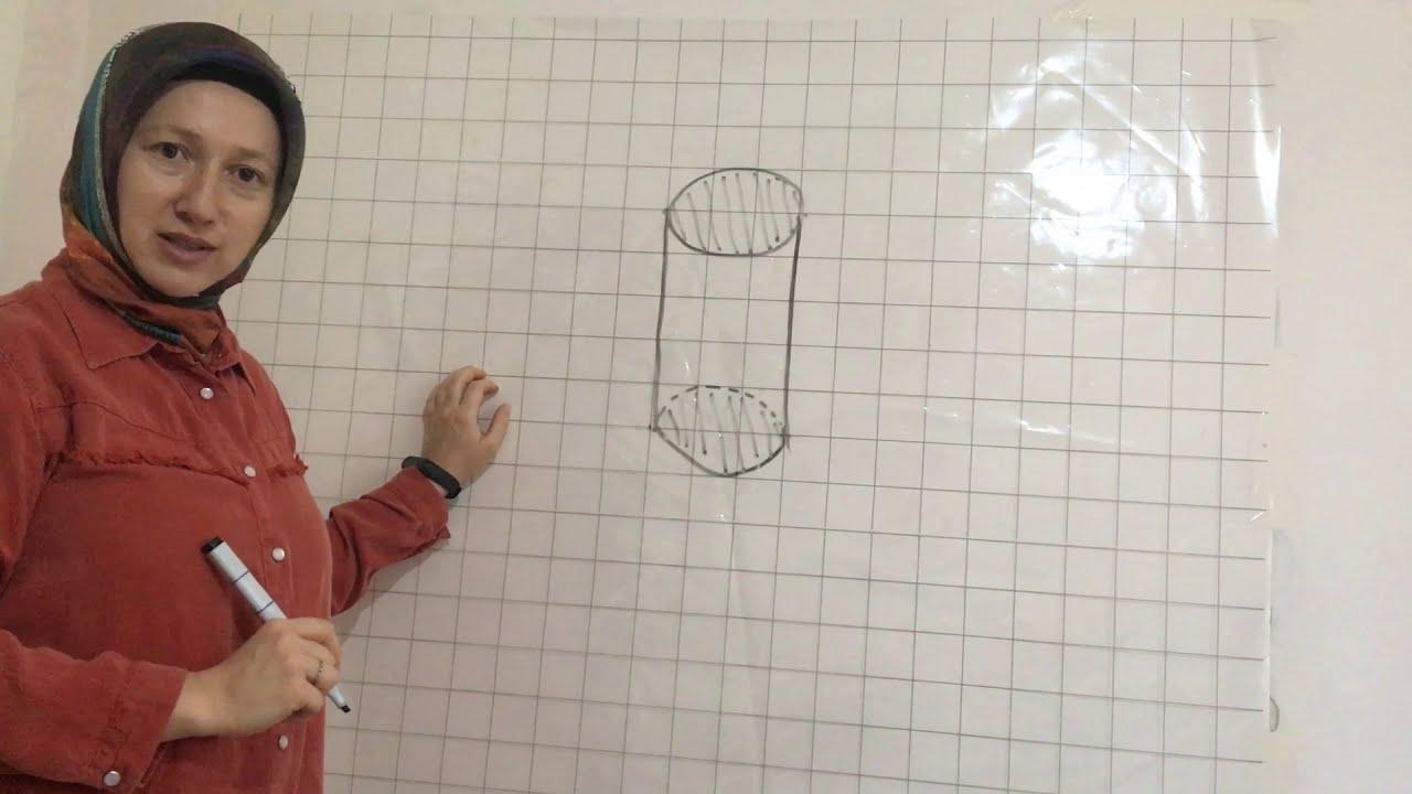 silindir nasıl çizilir kolay yöntem teknoloji tasarım
