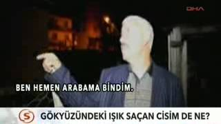 Erzurum'da vatandaşlar gökyüzünde ilginç bir cisim gördüler