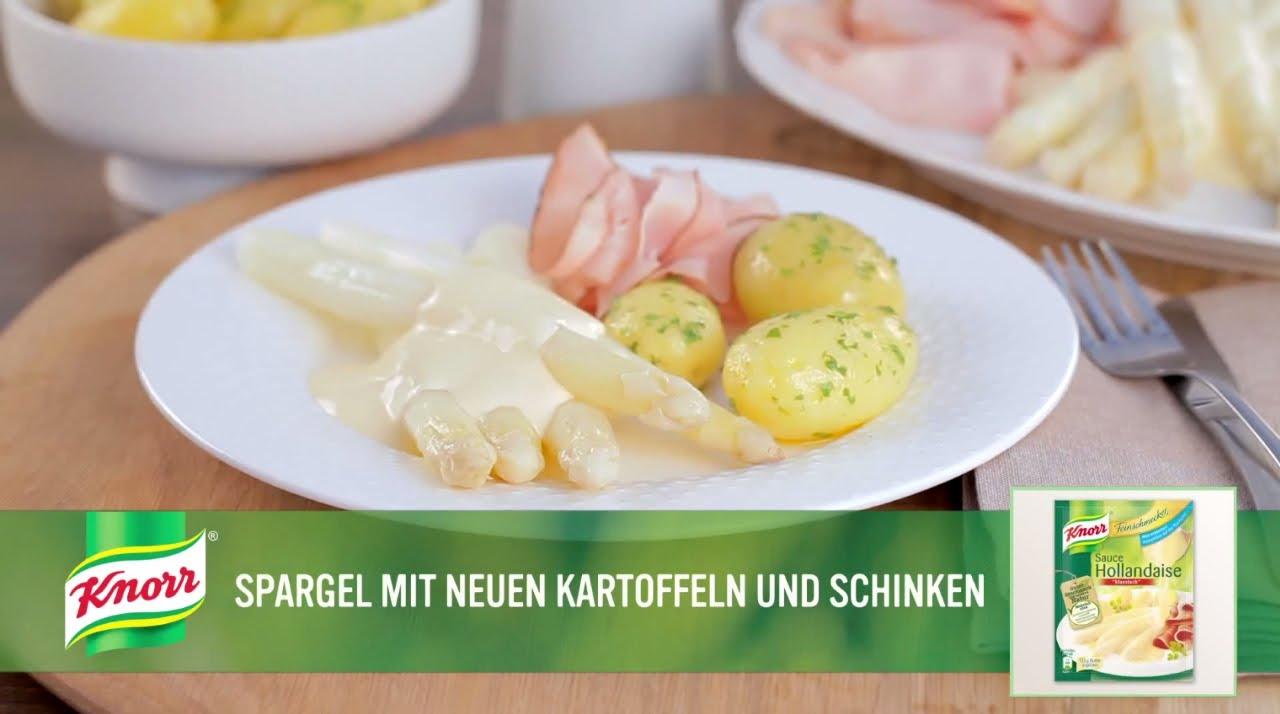 Spargel Mit Neuen Kartoffeln Und Schinken Knorr Rezepte Youtube