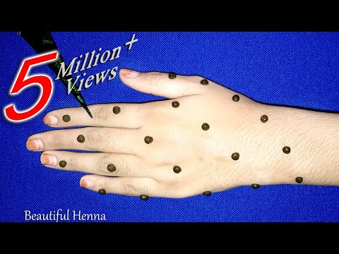 New Easy Full Hand Dots mehndi Design | Simple Mehndi Trick For Beginners | mehndi designs