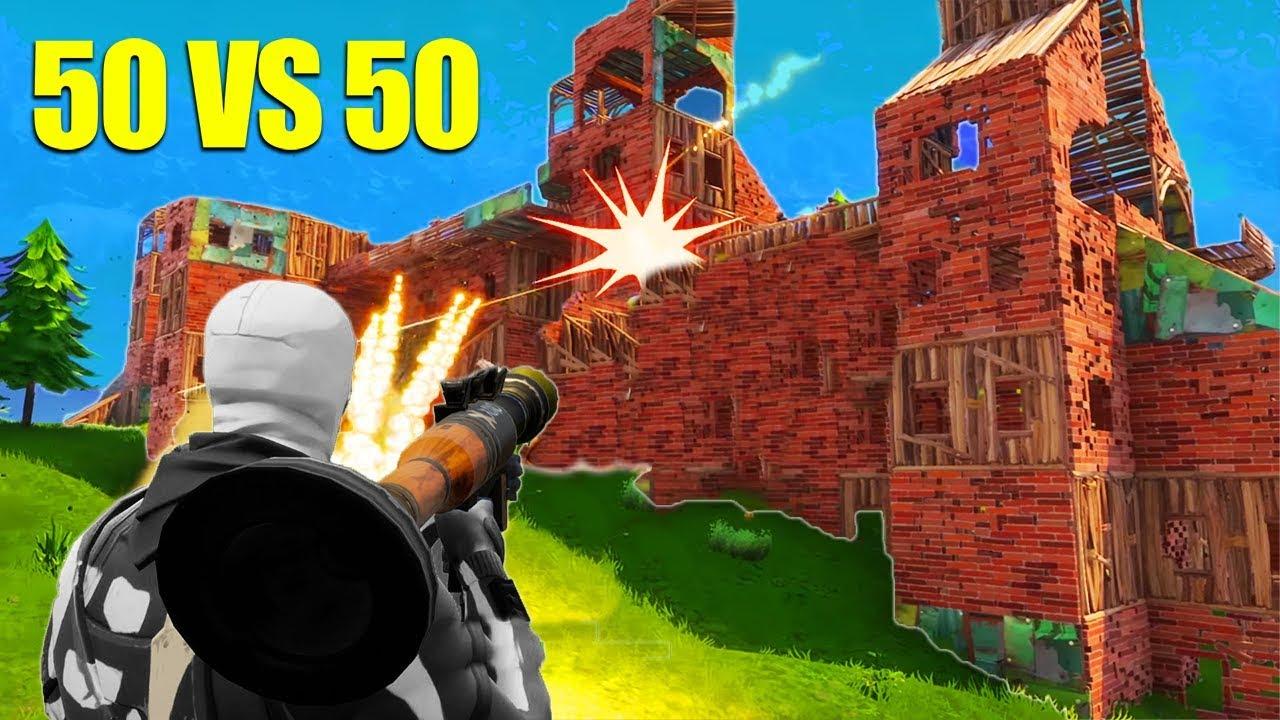 Download The BIGGEST 50 v 50 Fight! *NEW* Fortnite GameMode!