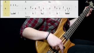 4 Non Blondes - What's Up (Bass Cover) (Play Along Tabs In Video)