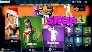 🆕MenamesCho's LIVE ✨ ITEM SHOP UPDATE ✨ TINSELTOES CRACKDOWN 🕺 FORTNITE BATTLE ROYALE - 20 12 18