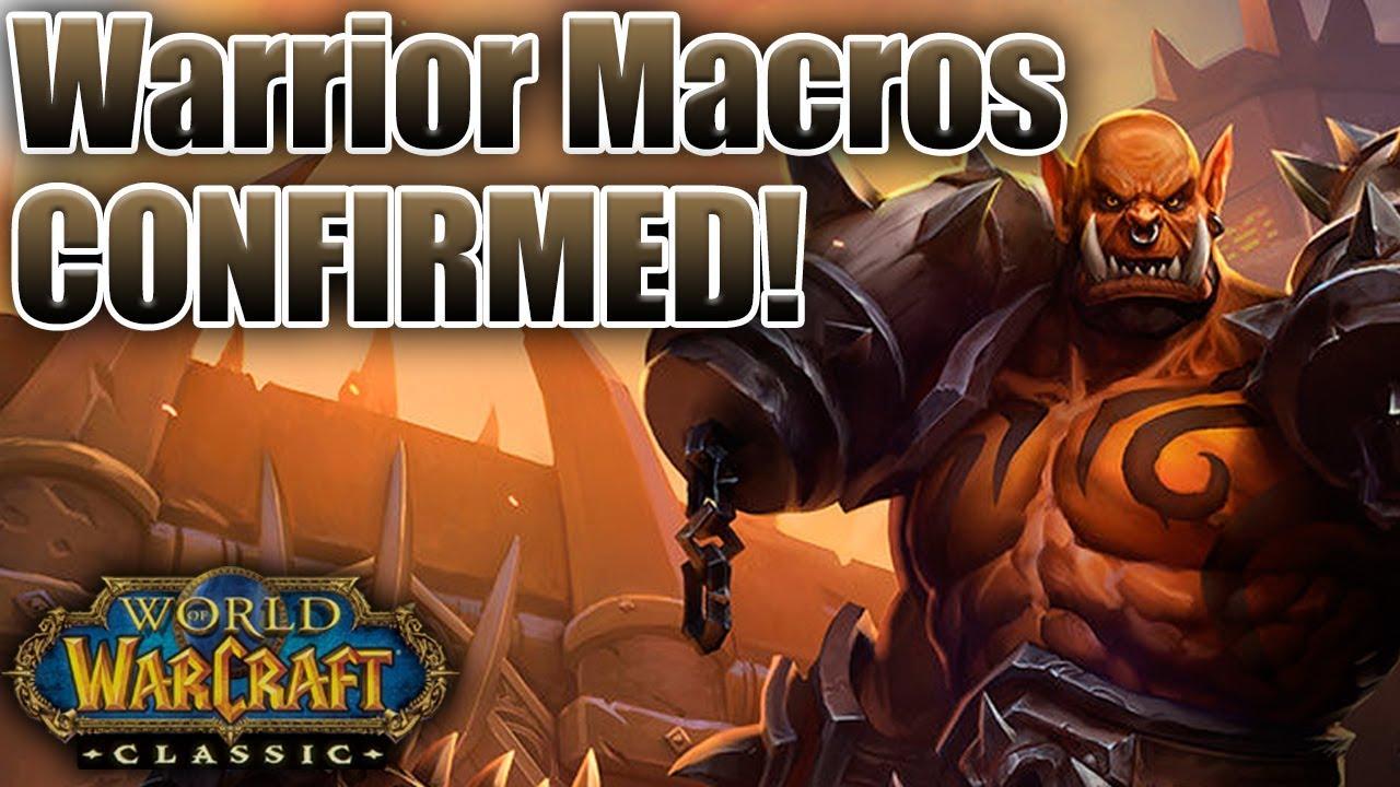 Classic WoW: Warrior Macro Basics | Leveling | PvP