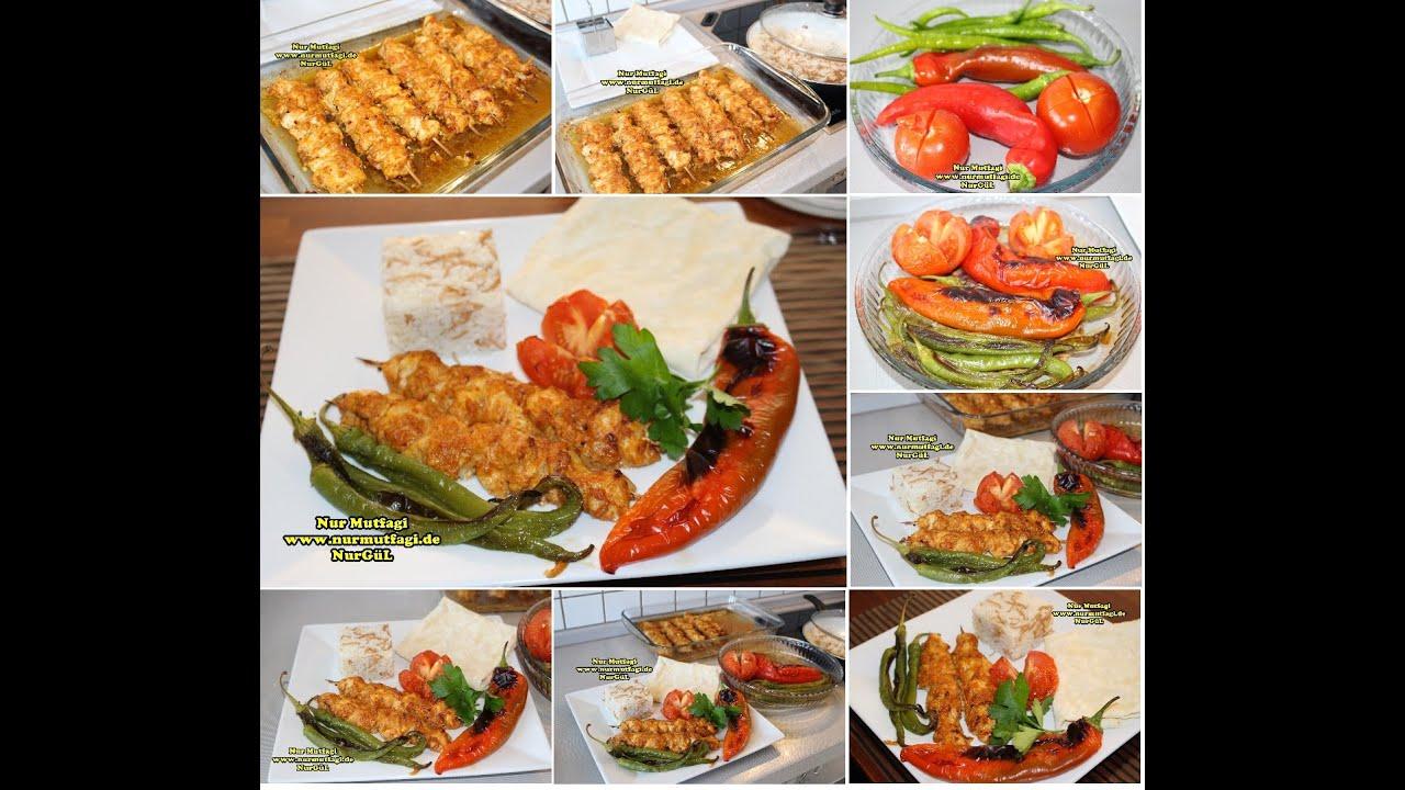Fırında marine soslu tavuk Şiş kebab - YouTube