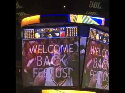 Oracle Arena Welcomes Back Festus Ezeli