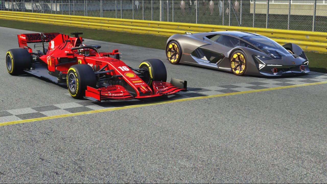 F1 Jordan 197 1997 Giancarlo Fisichella vs Lamborghini Egoista at Monza Full Course