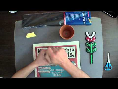 3d Melty Beads Assembly Piranha Plant From Super Mario Youtube