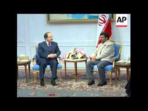 Massoud Barzani meets Iranian president on second day of visit