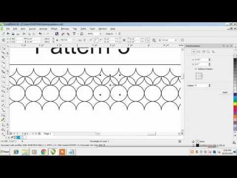 how to create background patterns in coreldraw