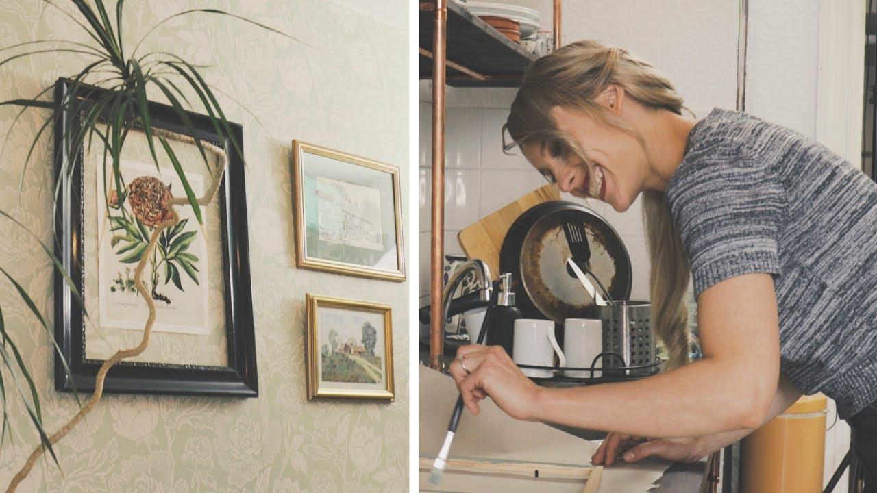 Nie wieder Löcher! Deko mit Klebenägeln #7 MakeOver Küche   DIY ...
