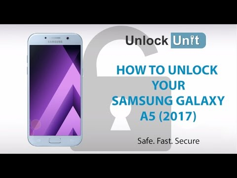How to Unlock Samsung Galaxy A5 (2017) using Unlock Codes