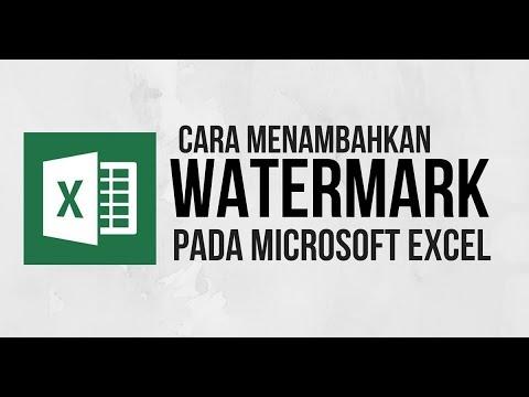 Cara menambahkan WATERMARK pada Excel - Tutorial Excel Indonesia