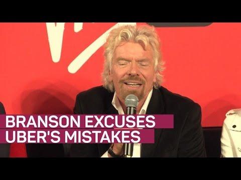 Richard Branson excuses mistakes of Uber's Travis Kalanick