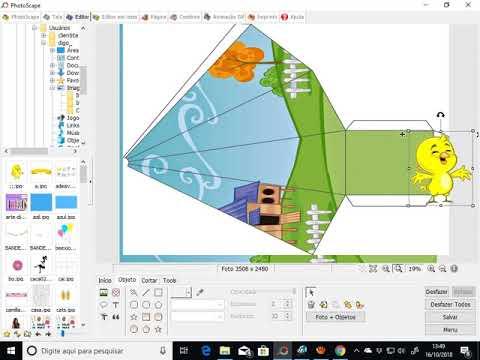Tutorial Como Arte Caixa Piramide Personalizado Photoscape