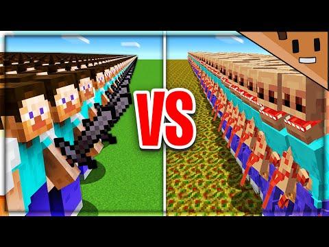 100 Minecraft Players vs PARASITES