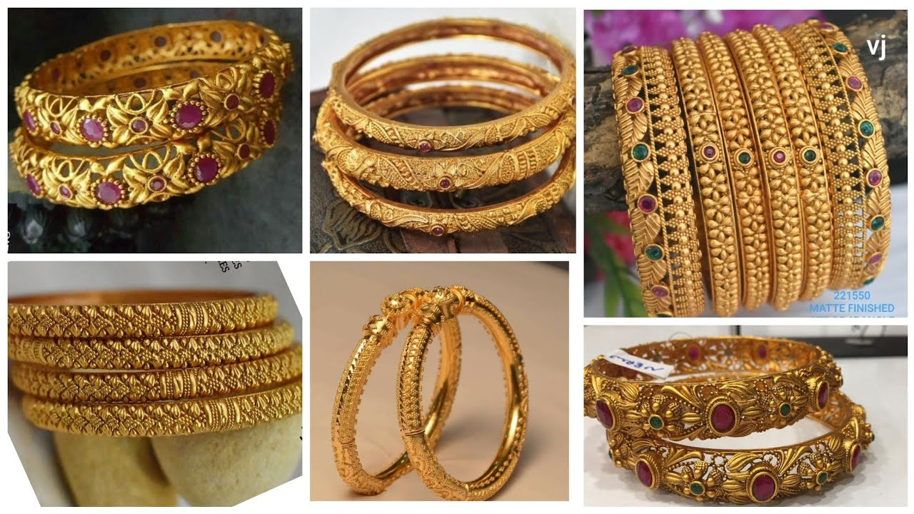 Latest Pure Gold Bangles Designs 2019-20/Best Gold Bangles Designs