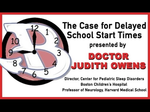 The Case Delayed School Start Times