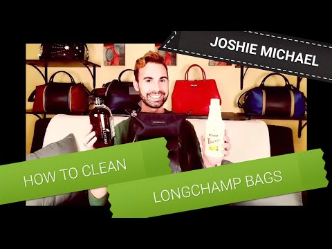 LONGCHAMP - How to CLEAN Nylon & Leather || JM