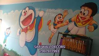 pre play school classroom art works Hyderabad by 7997977993