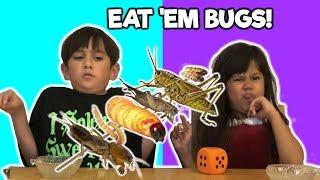 KIDS EAT BUGS CHALLENGE | Foodie Babies Nico & Suri