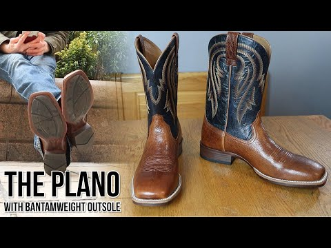 The Plano: Ariat Square Toe Cowboy Boots With Bantamweight Sole!