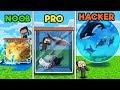 - Minecraft - FISH TANK! NOOB vs PRO vs HACKER
