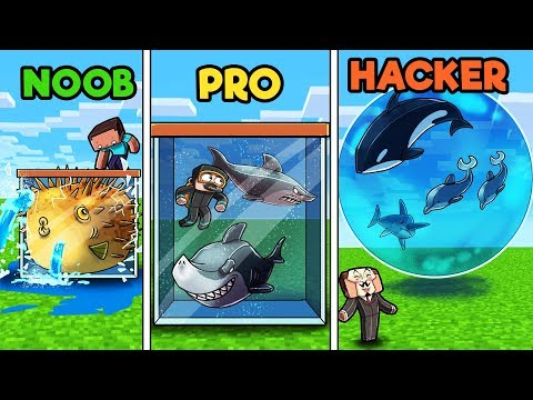 Minecraft - FISH TANK! (NOOB vs PRO vs HACKER)