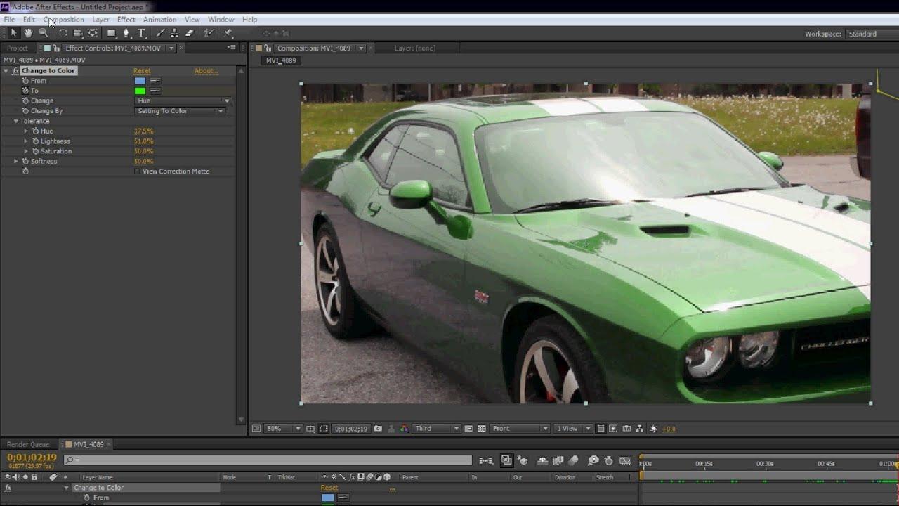 画像: Color Changing Car - After Effects Tutorial youtu.be