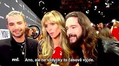 red.: Bill & Tom Kaulitz, Heidi Klum Interview @ About You Award 2019 #CZ