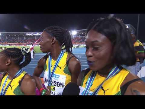 IAAF/BTC World Relays Bahamas 2017   4X200m women Final Team Jamaica Gold