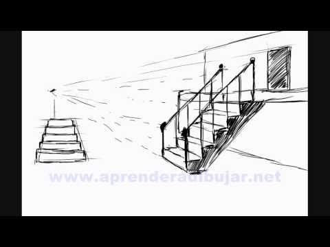 Como dibujar escaleras - Bocetos de dibujos de casas y edificios ...