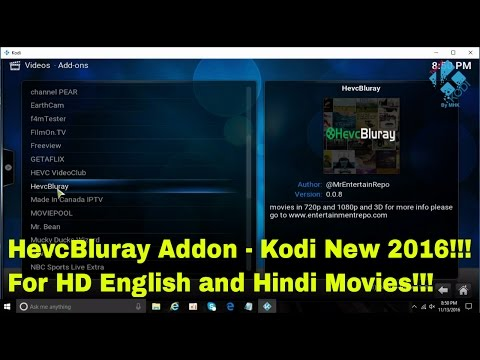 HEVC Bluray Addon (New 2016) - How to...