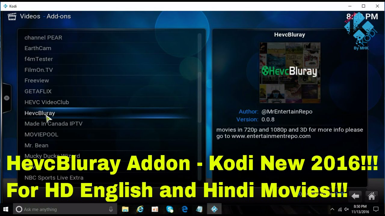 how to watch hd on kodi