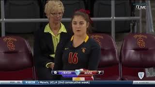 Washington At USC   NCAA Womens Volleyball Oct 29th 2014