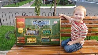 """Собираем игрушку """"Мой первый поезд"""" Паровозик для детей Train with smoke steam.  Railroad"""