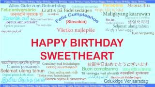 Sweetheart   Languages Idiomas - Happy Birthday