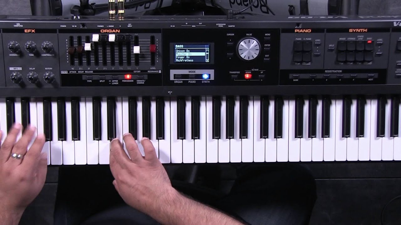 Roland V Combo Vr 09 Synth Section Youtube