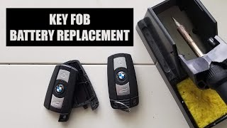 How to Replace Battery in BMW E90 Key Fob (NonComfort Access)