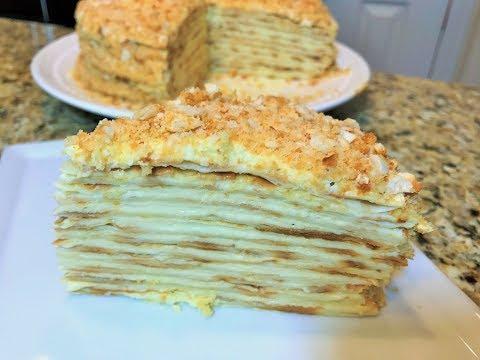 НАПОЛЕОН БЕЗ ВЫПЕЧКИ, слоёный,  настоящий. No Bake Napoleon Cake.